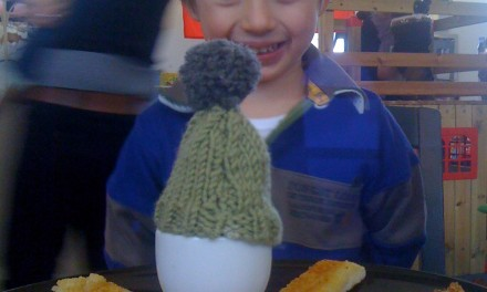 Silent Sunday:  Eggs in Hats