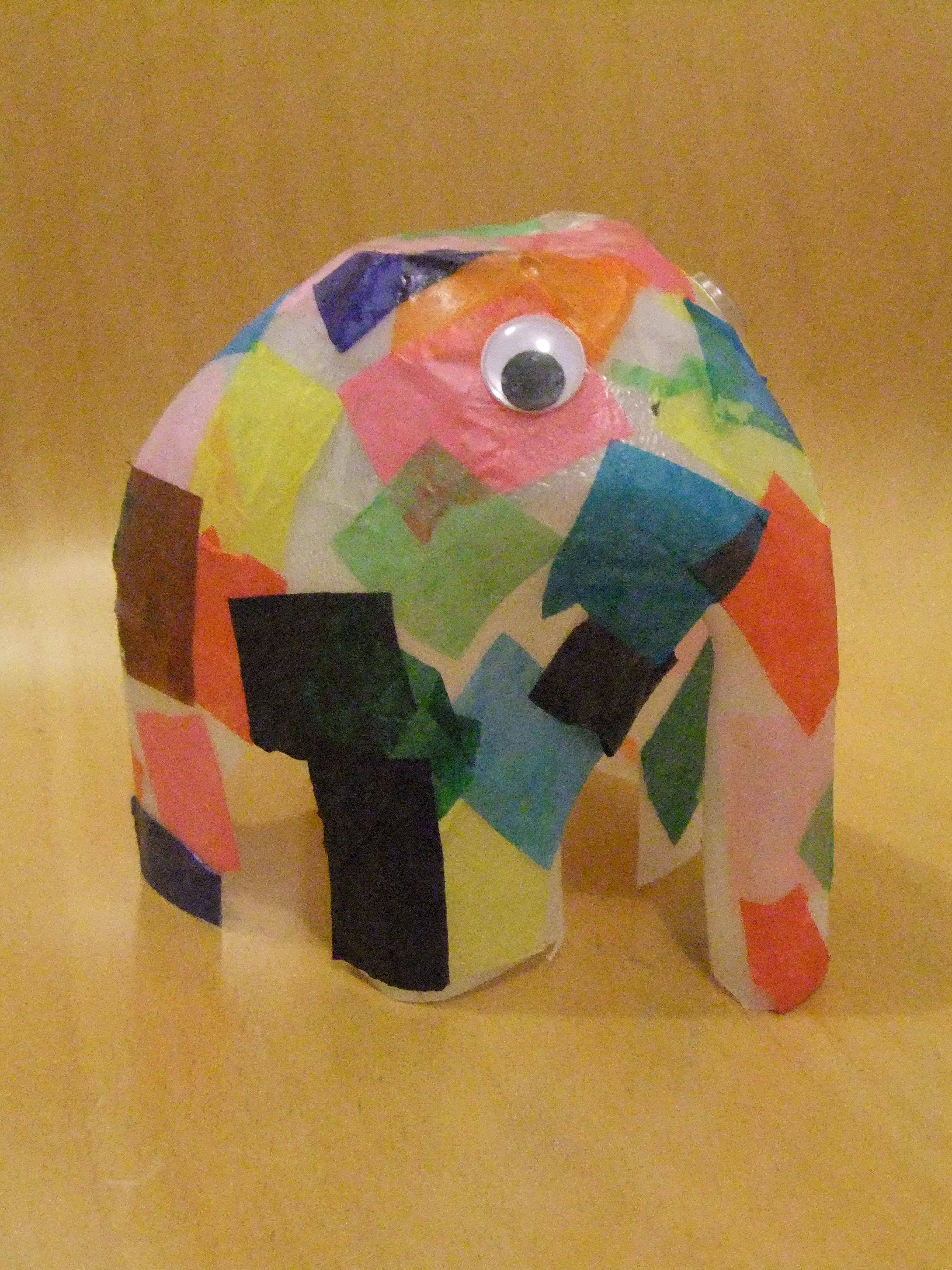 Kids Craft: Elmer Elephant - Notes to Self