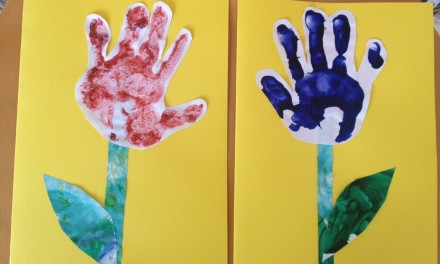 Hand Prints for Mothers Day