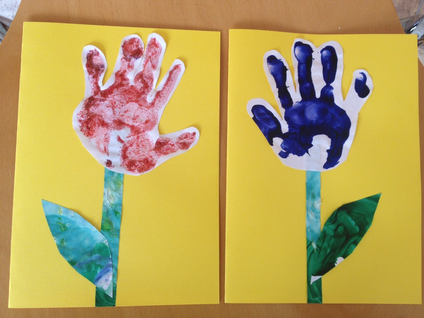 Hand prints for mothers day notes to self for Mothers day painting crafts