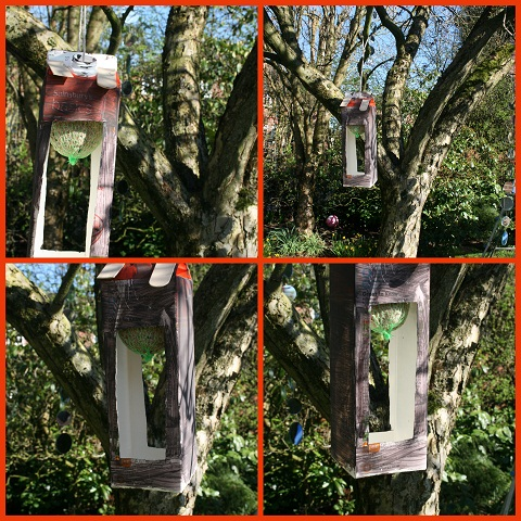 Juice Carton Bird Feeder
