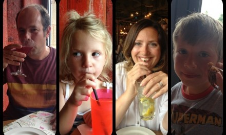 A great family meal at Las Iguanas