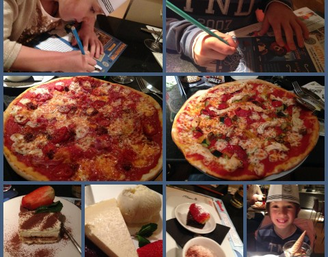 Half Term Dinner Out At Pizza Express