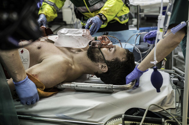 The Fall Season 3 Doctors battled to save Spector's life for the main part of this opening episode