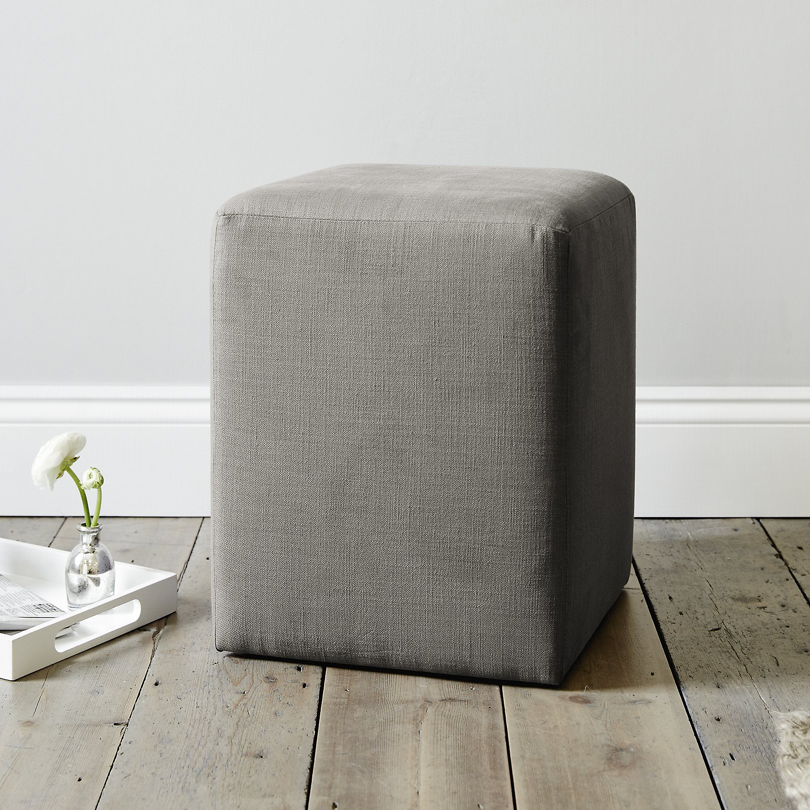 LANGLEY Cotton Footstool