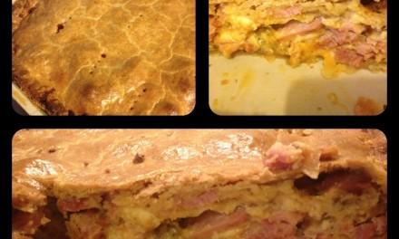 Leftover Christmas Cheese & Ham Pie